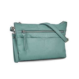 Lds aqua wristlet crossbody clutch