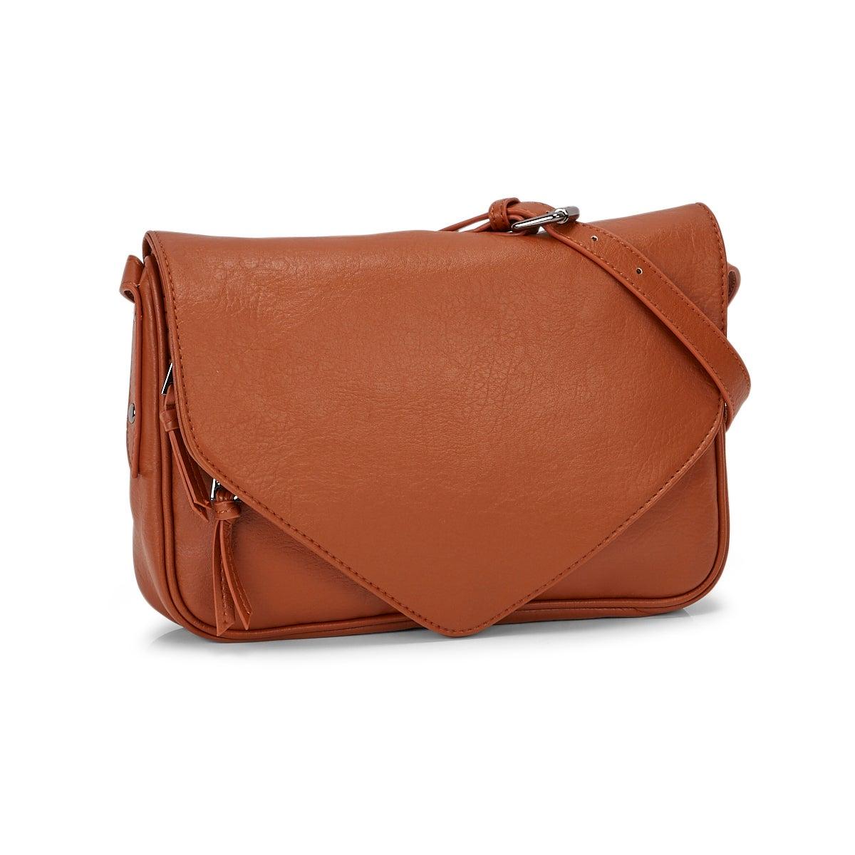 Women's 6353 Crossbody Bag - Cognac