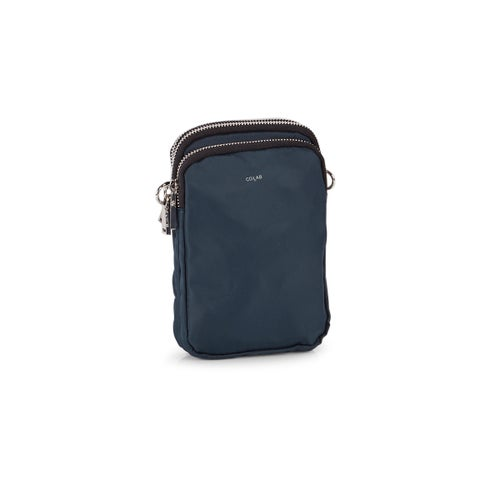 Lds dark teal compartment tech crossbody