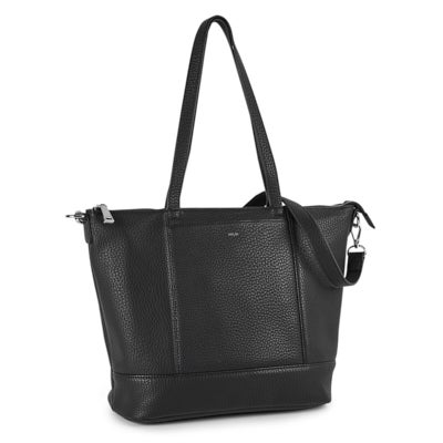 Co-Lab Women's EVERYONE'S black top zip tote bag