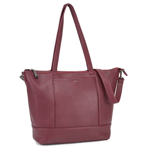 Lds Everyone's wine top zip tote bag