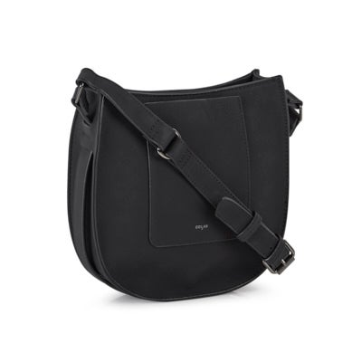 Co-Lab Women's 6367 black saddle crossboy bag
