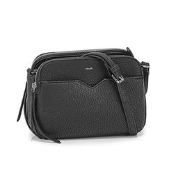 Lds Triple Crossbody blk bag