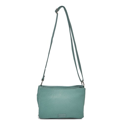 Lds aqua triple crossbody bag