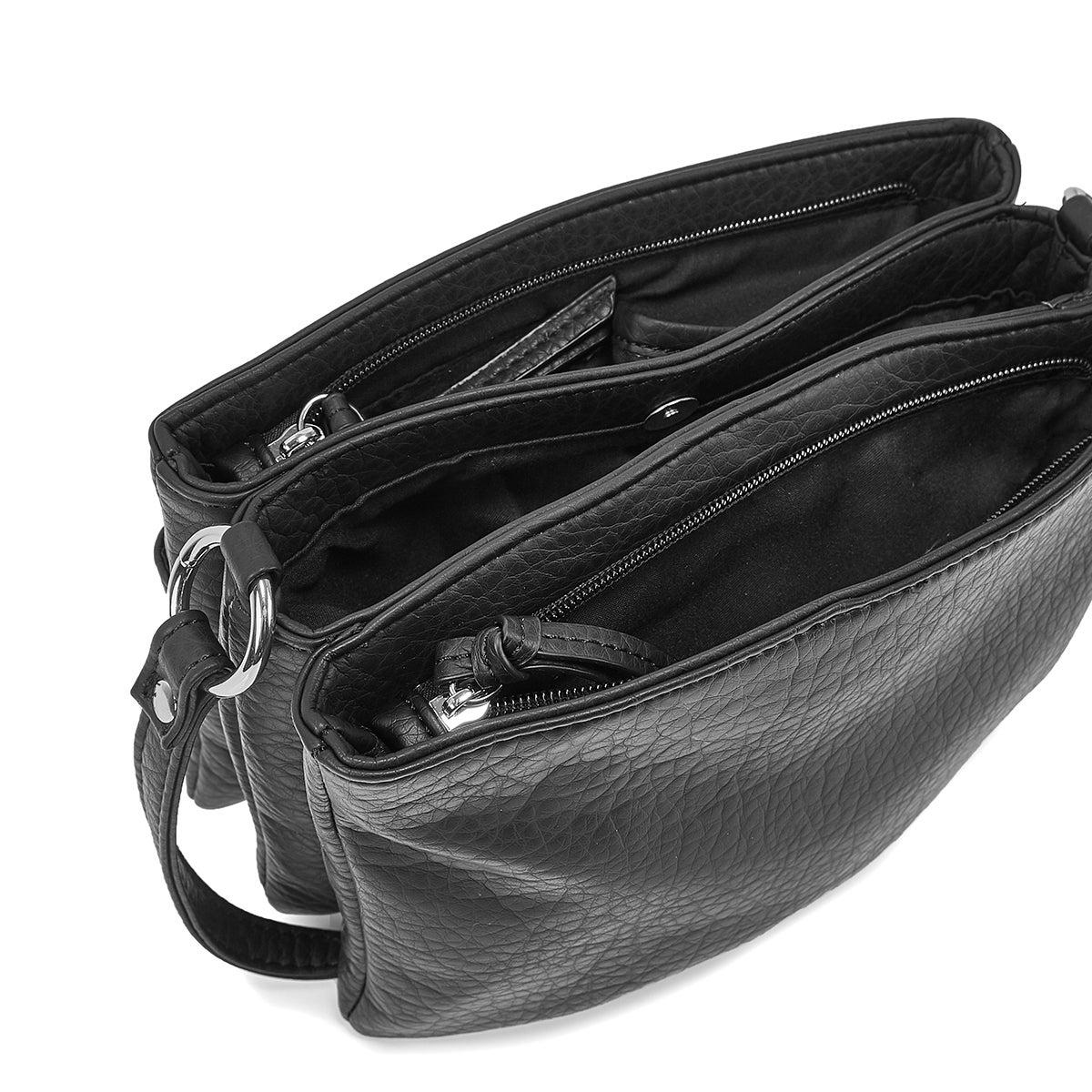 Women's 6400 Triple Crossbody Bag - Black