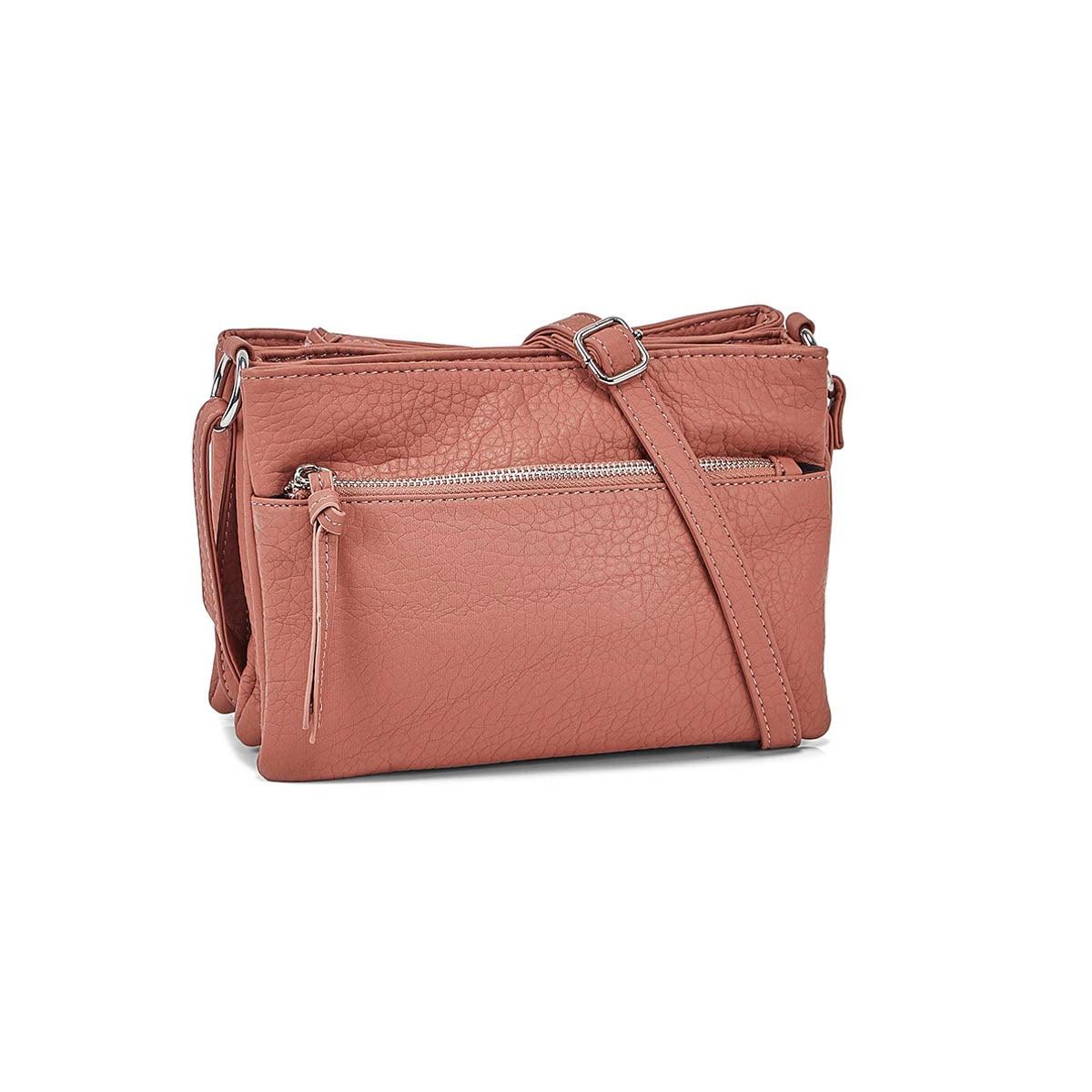 Women's 6400 Triple Crossbody Bag - Mulberry