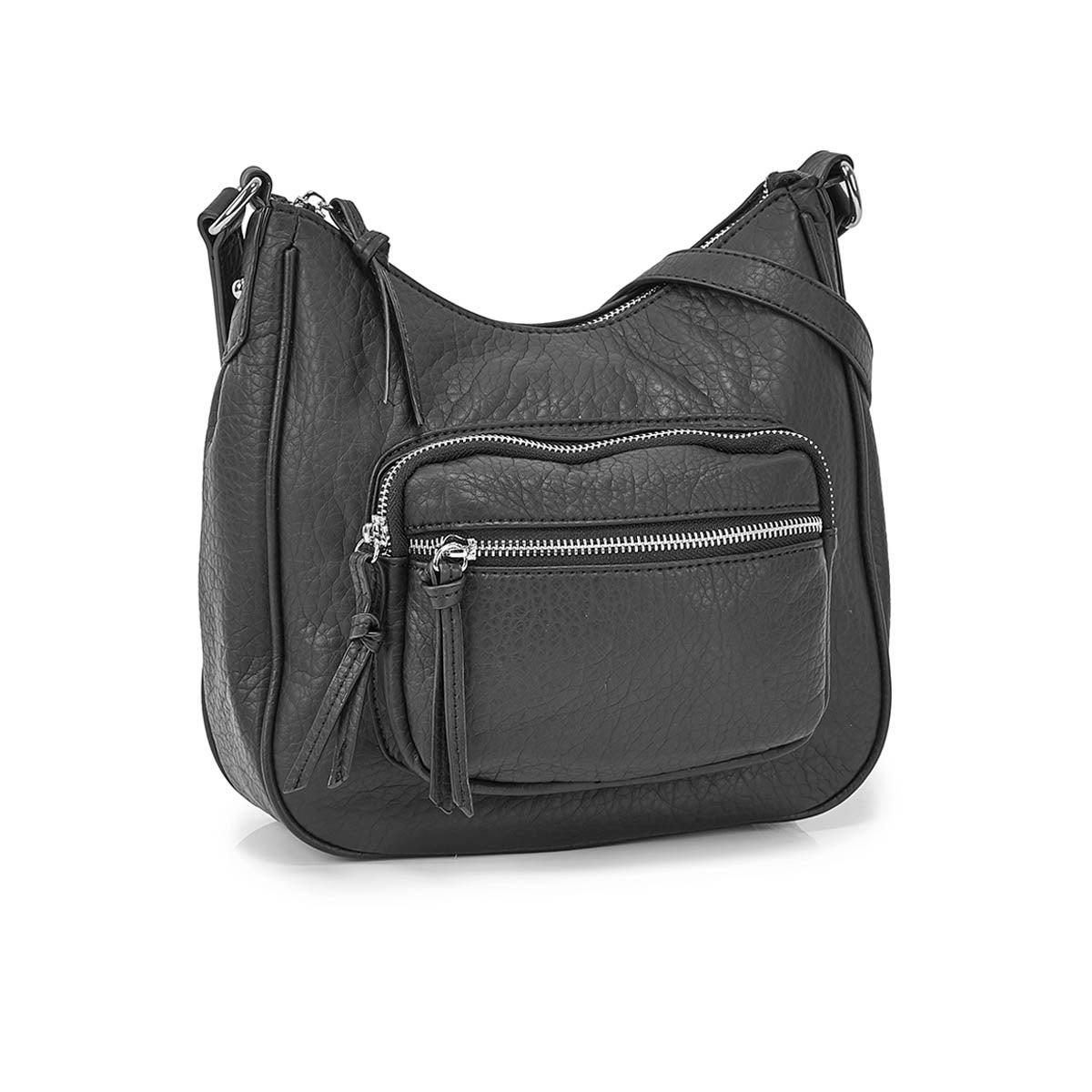 Women's 6402 black hobo crossbody bags