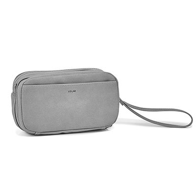 Co-Lab Women's 6409 grey cross body wallet