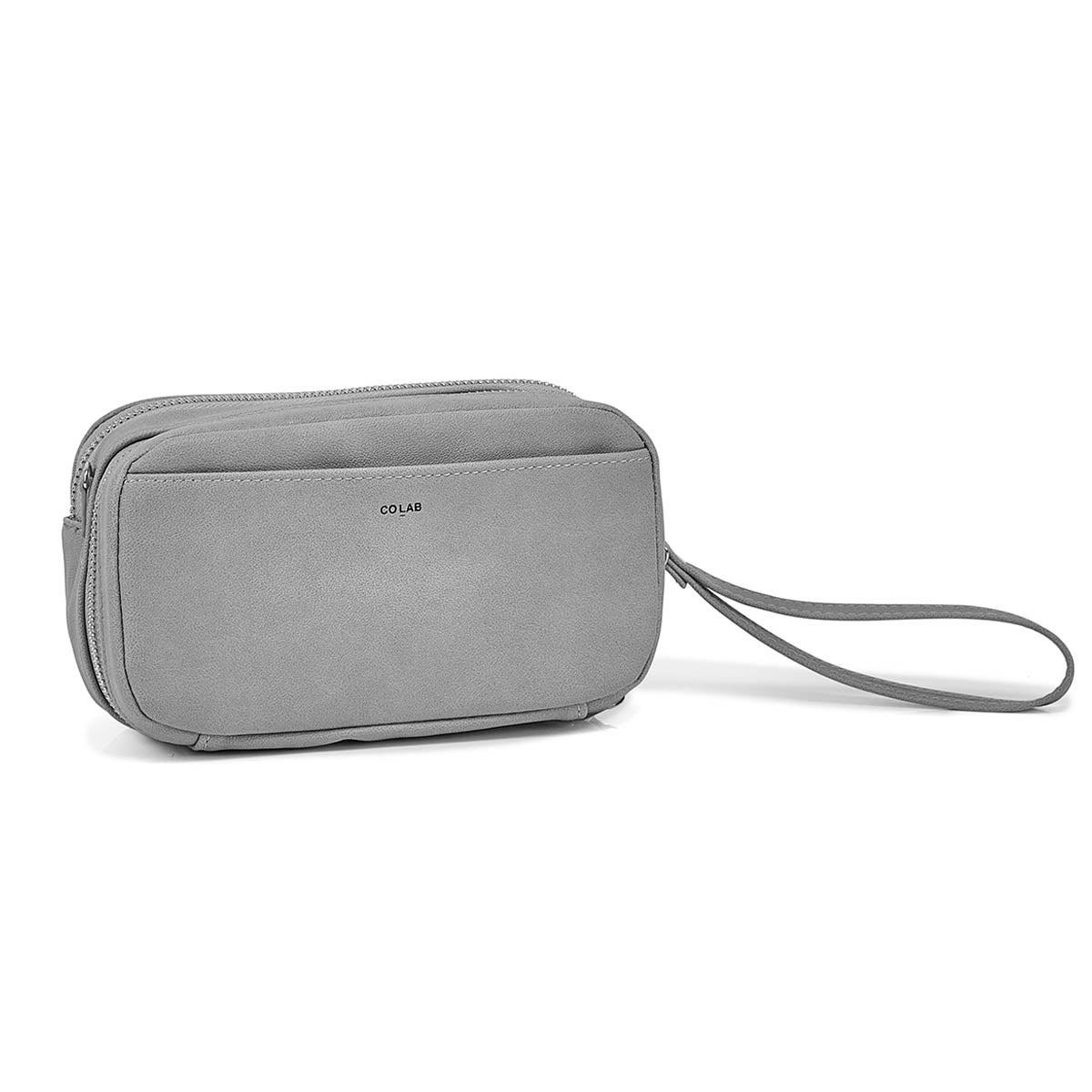 Pochette à bandoulière 6409, gris, femmes