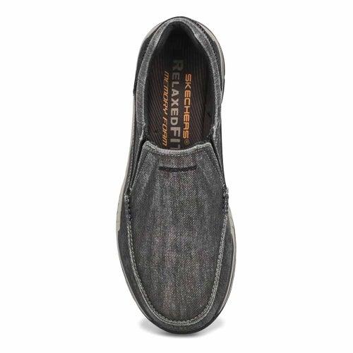 Mns Avillo blk slip on casual shoe