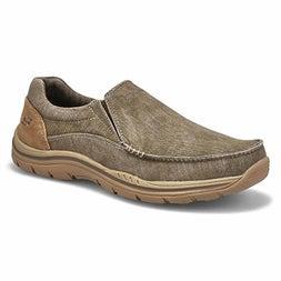 Mns Avillo khaki slip on casual shoe