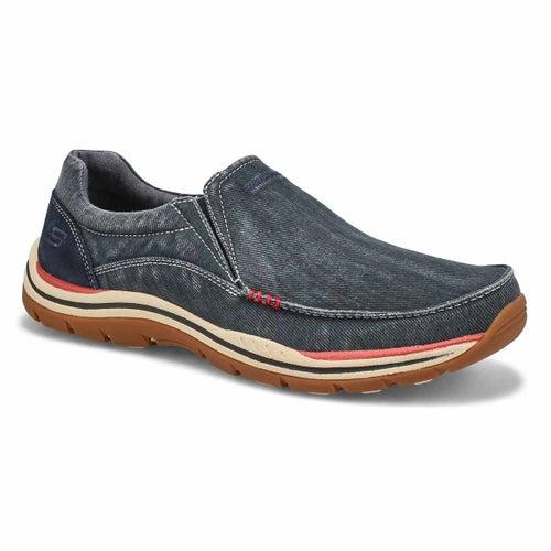 Mns Avillo navy slip on casual shoe