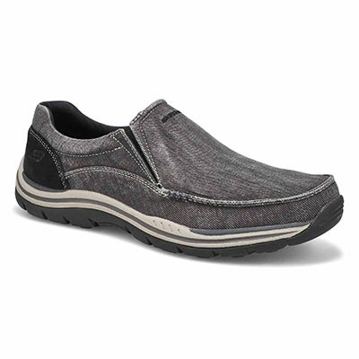 Mns Avillo black slip on casual shoe