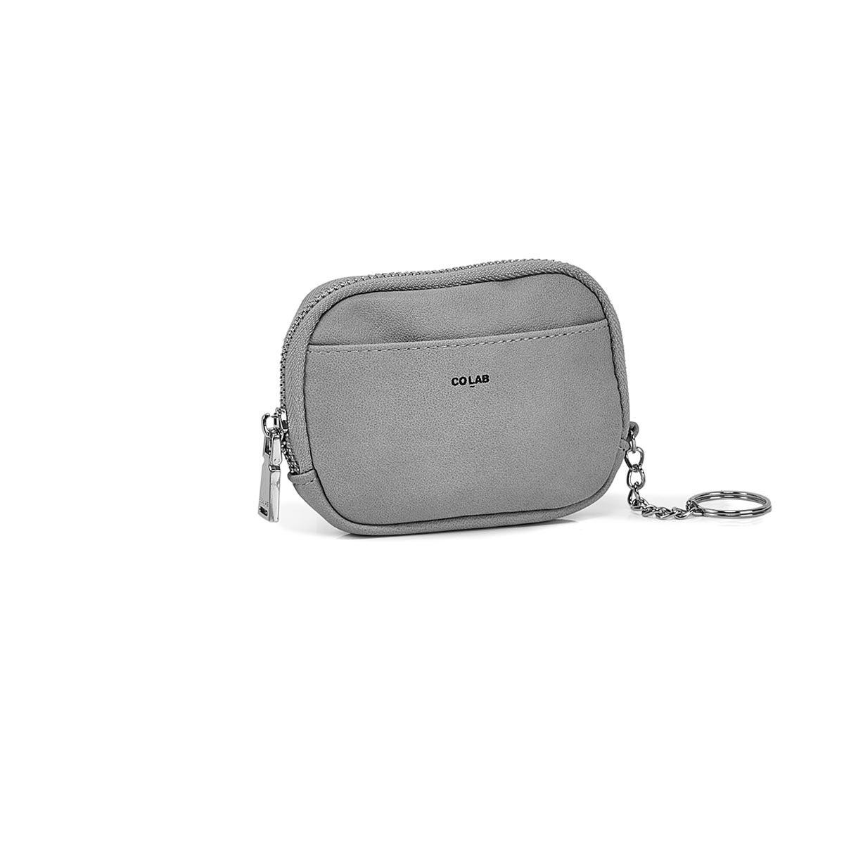 Porte-cartes/portefeuille/clés 6427, gris, femmes