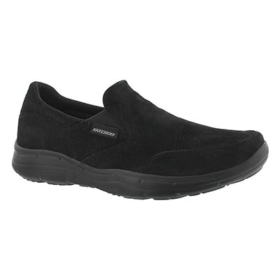 Skechers Men's GLIDES- MOLTI black suede slip on shoes