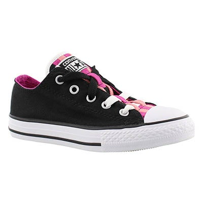 Converse Girls' CT ALL STAR LOOPHOLES CANVAS blk sneakers