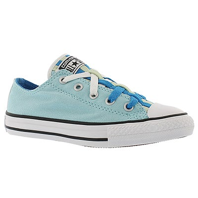 Converse Girls' CT ALL STAR LOOPHOLES CANVAS blue sneakers