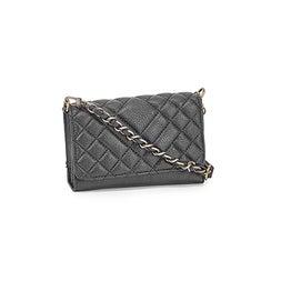 Lds black crossbody wallet with wristlet