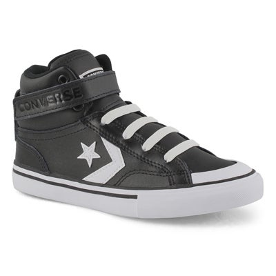 Boys' PRO BLAZE STRAP black/white hi top sneakers