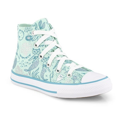 Girls' CT ALL STAR MERMAID mint/ multi sneakers