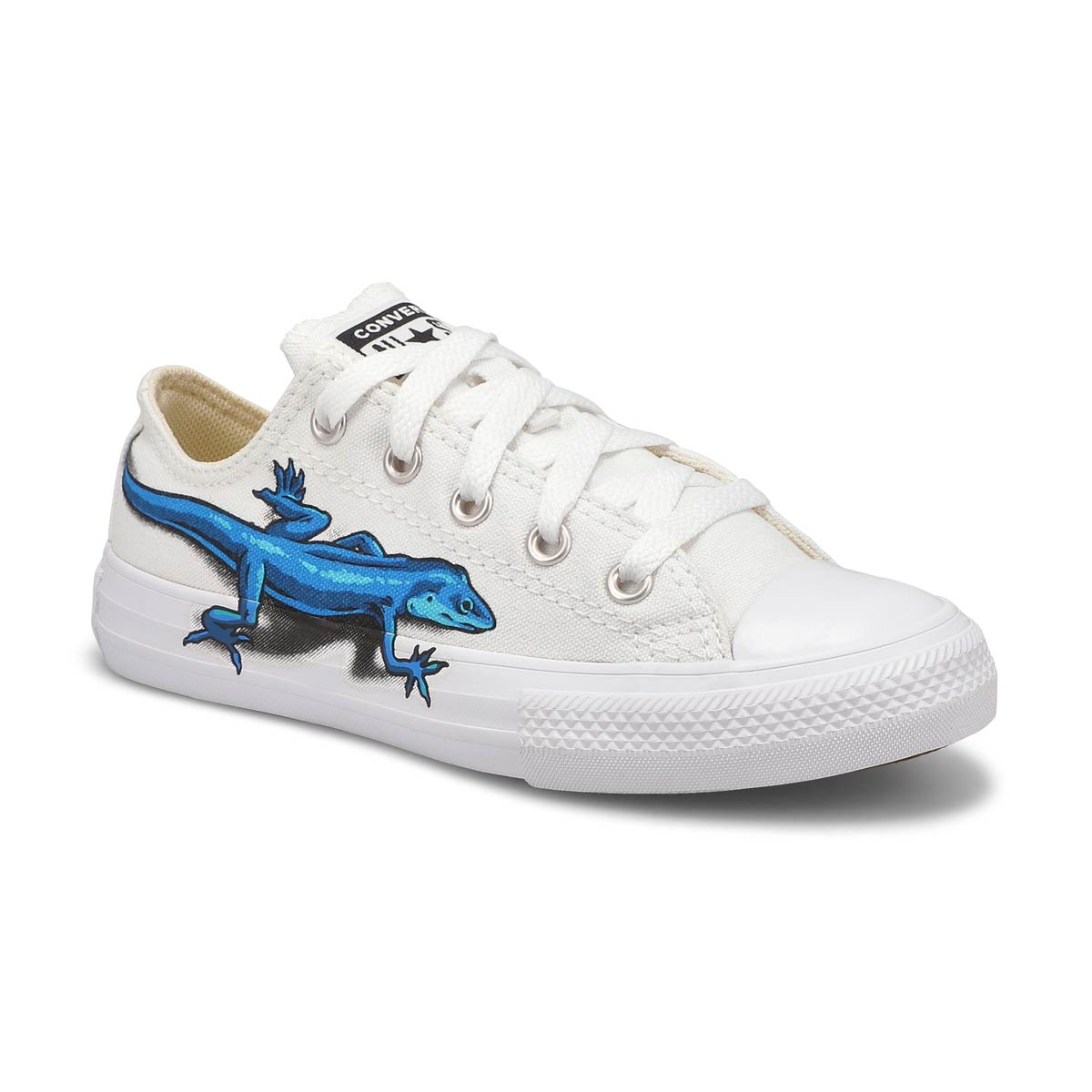 Boys' CT All Star Ox sneakers - wht/red/blk