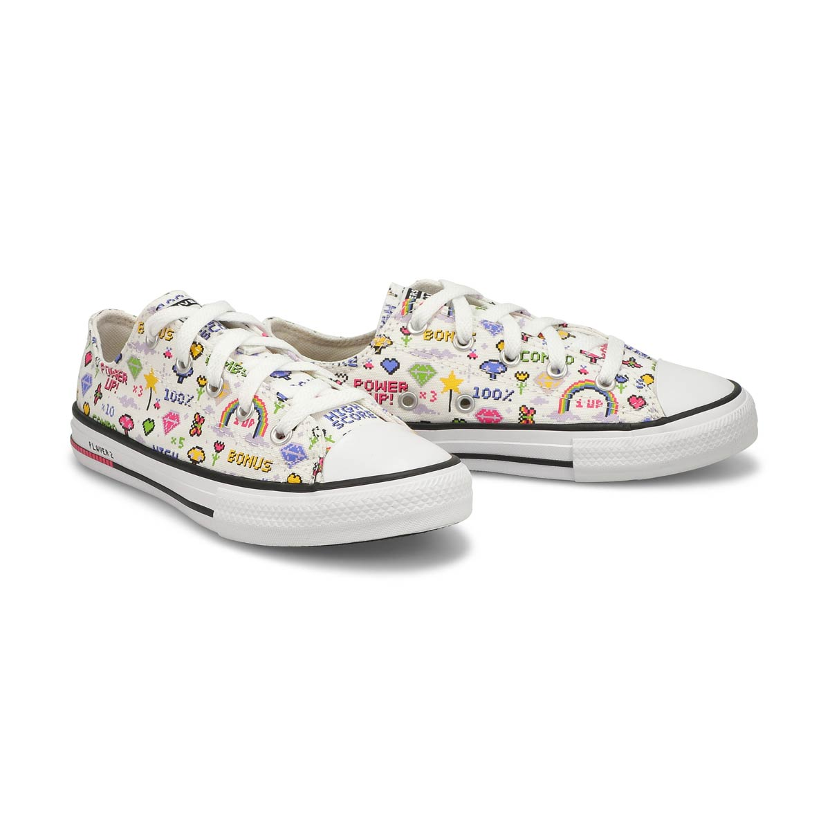 Girls' Chuck Taylor All Star Gamer Sneakers -Whtml