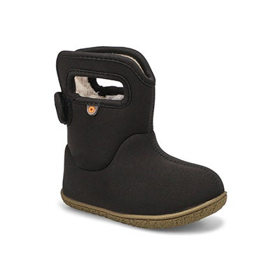 Toddlers' SOLID black waterproof boots