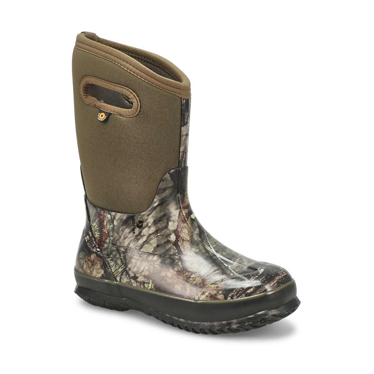 Boy's Class Mossy Oak Tall Winter Boot - Green