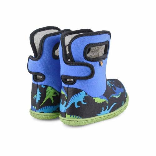 Inf-b Dino electric blue multi wtpf boot
