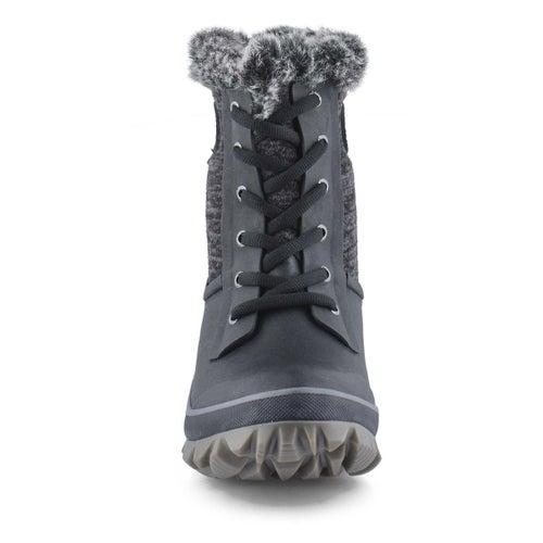 Lds Arcata Knit black multi wtpf boot