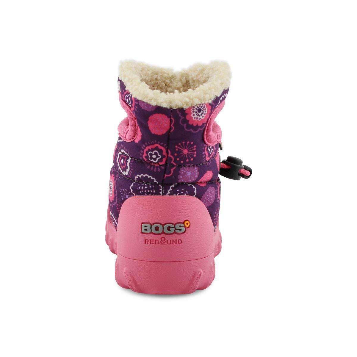 Infant B Moc BULLSEYE purple multi waterproof boot