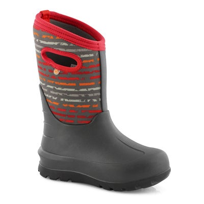 Boys' NEO-CLASSIC SPOT STRIPES grey mulit boot