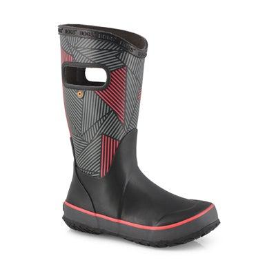 Boys' RAIN BOOT BIG GEO blk/ multi rain boots