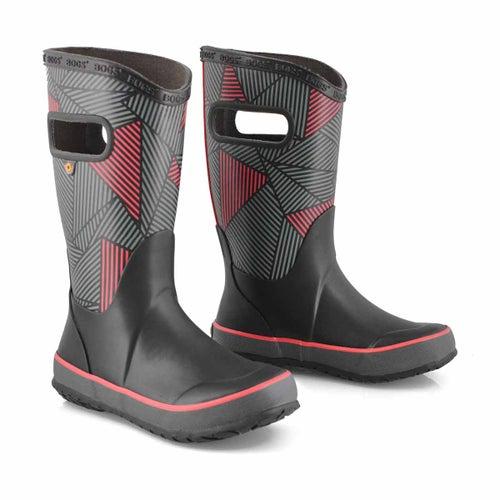 Bys Rainboot Big Geo blk/mlti rain boot