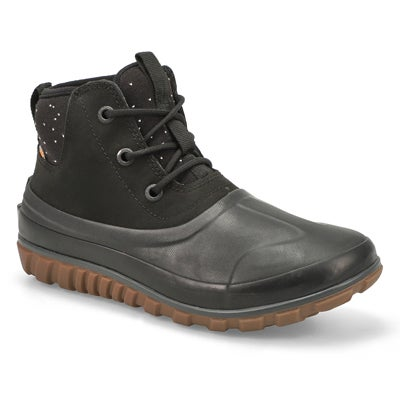 Women's CLASSIC CASUAL LACE blk waterproof boots
