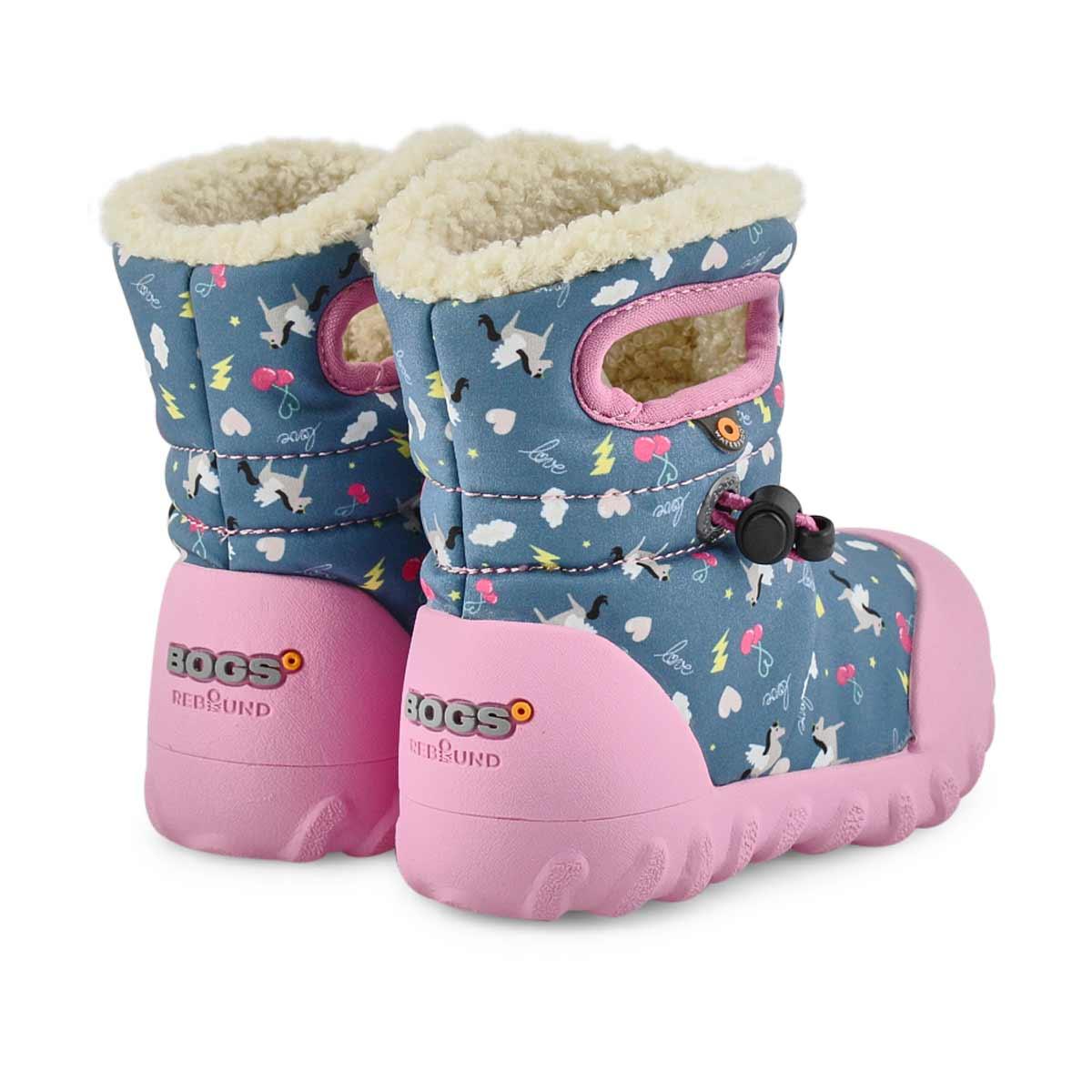 Infant's B-Moc Pegasus Waterproof Boot - Blue Mlt