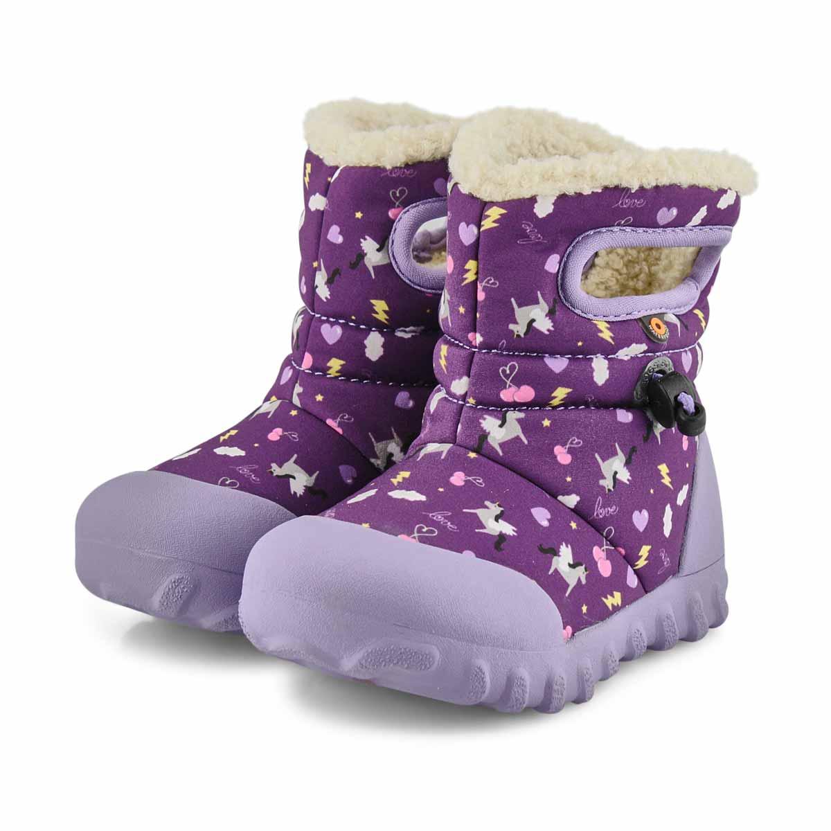 Infant's B-Moc Pegasus Waterproof Boot - Ppl Mlt