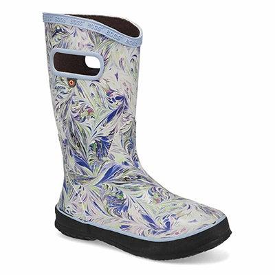 Girls' RAIN BOOT MARBLE periwinkle rain boots