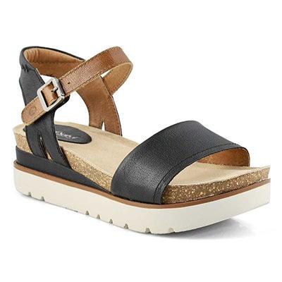Women's CLEA 01 black casual sandals