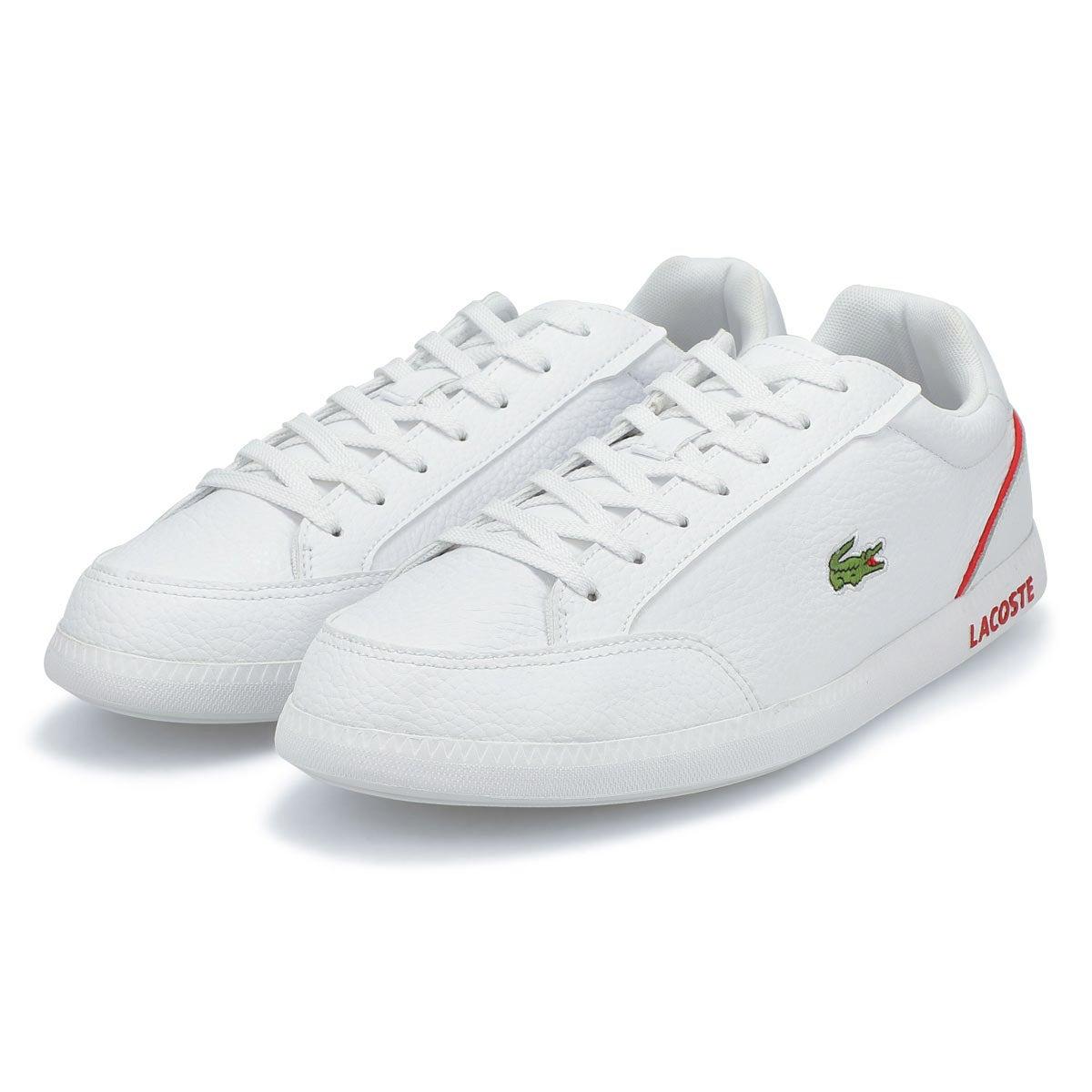 Men's Graduate Cap 0721 1 Sneaker -White/Red