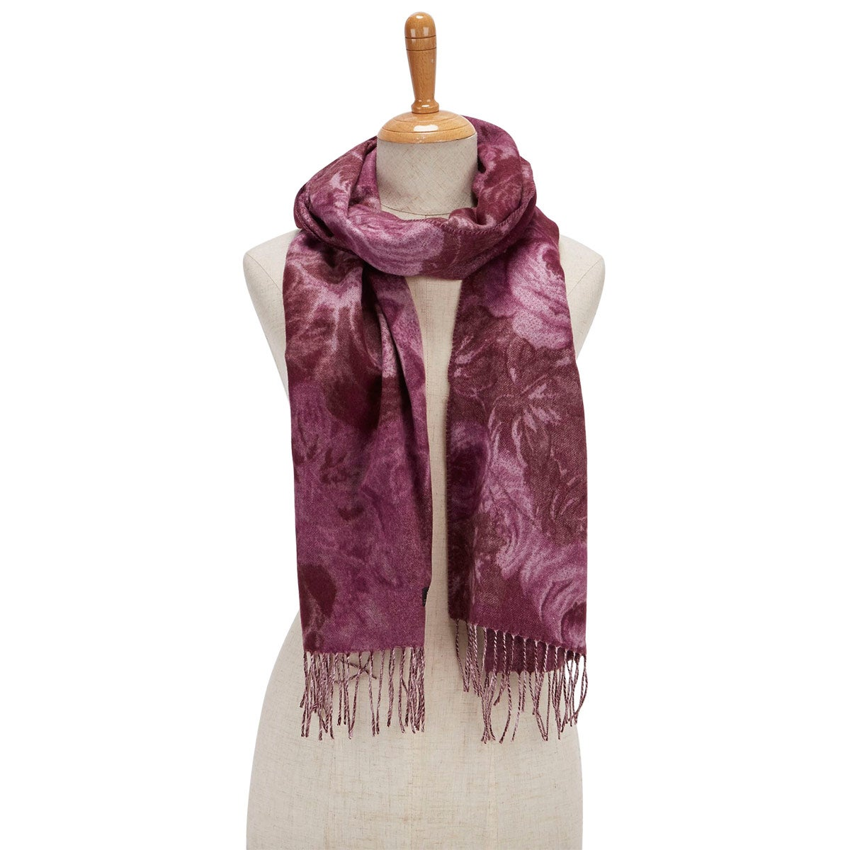 Lds Rose Bouquet wine scarf