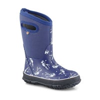 Boy's Classic Hockey Waterproof Boot - Blue Multi
