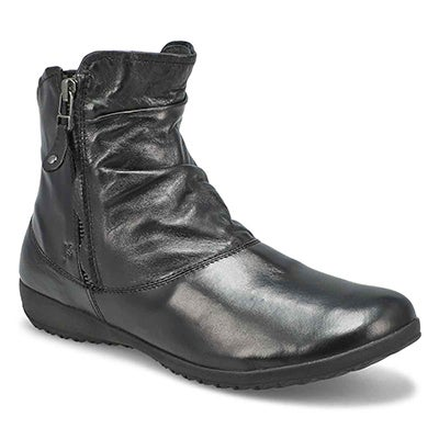 Women's NALY 24 black side zip ankle boots