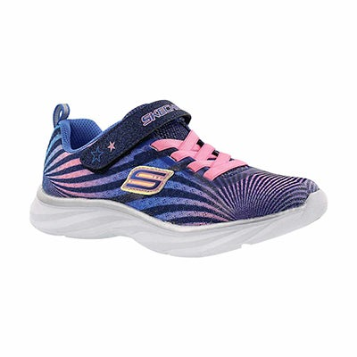 Skechers Girls' COLORBEAM navy/pink printed sneakers