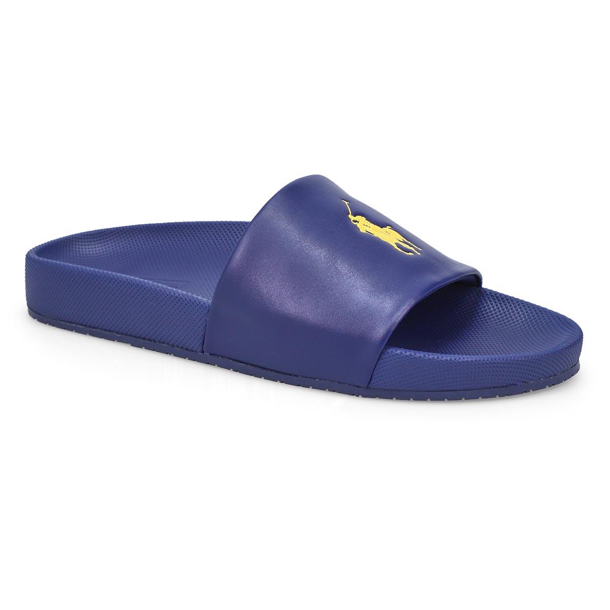 Men's Cayson Slide Sandal - Navy/Gold