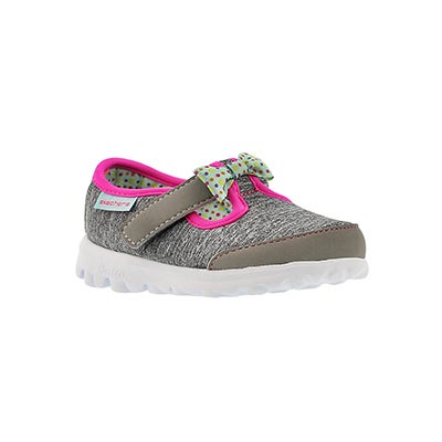 Skechers Infants' GOwalk BITTY BOW gry/multi walking shoes