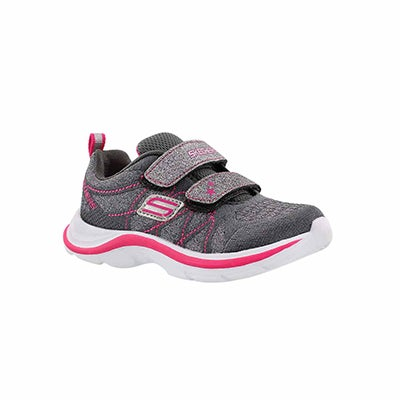 Skechers Infants' LIL GLAMMER charcoal running shoes
