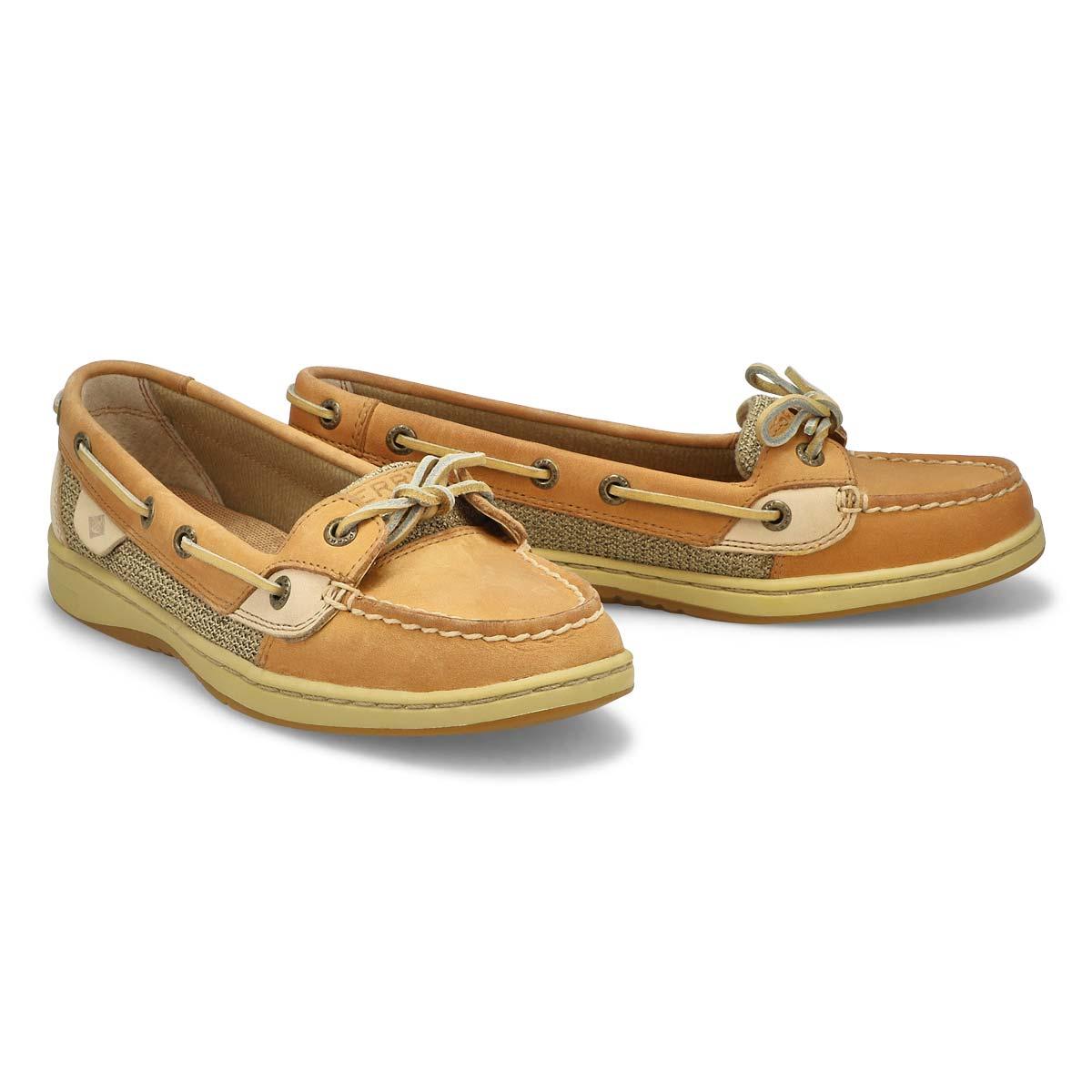Women's Angelfish Boat Shoe - Linen Oat