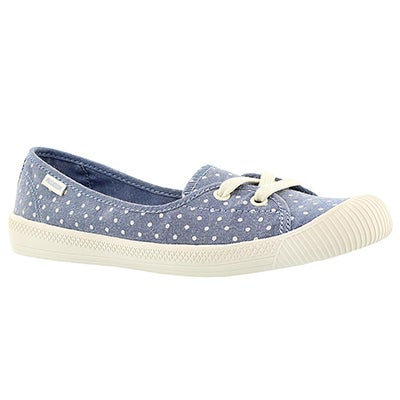 Palladium Women's FLEX BALLET blue/white dots sneakers