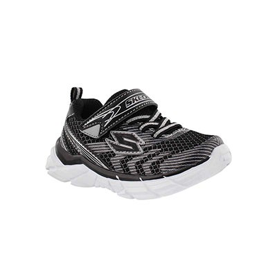Skechers Infants' RIVE black/silver sneakers